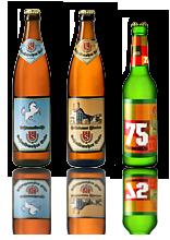 Drei Bierflaschen des Schmidmayer Bräus